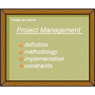 Project management definition methodology implementation