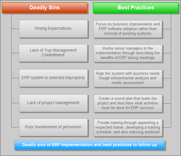 ERP Project - Deadly Sins and Best Practices