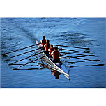 Low-performing team at rowing