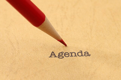 Creating a meeting management agenda