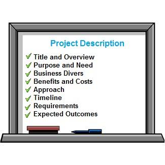 who to write project description