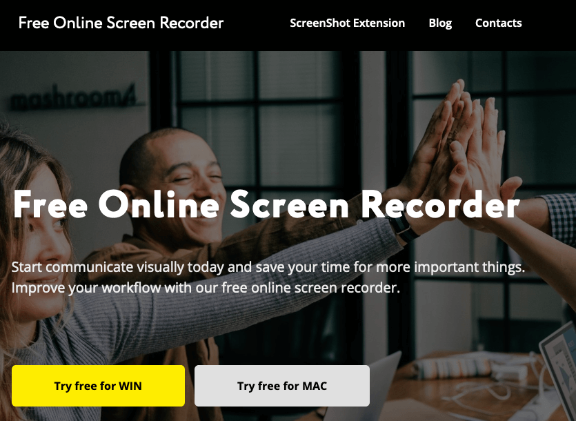 Free online screen recorder software