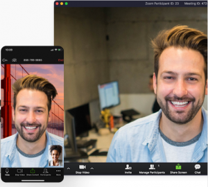 Zoom video conferencing and file sharing