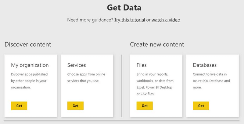 MS Power BI data Sources
